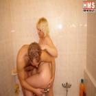 Blonde mature slut taken the cock all the way around