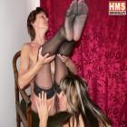 Hot mature lesbians getting wet