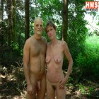 Horny mature slut taken in the forest by a masked man