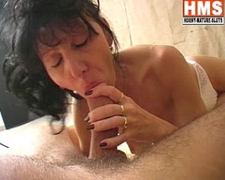 This mature brunette loves a hard cock