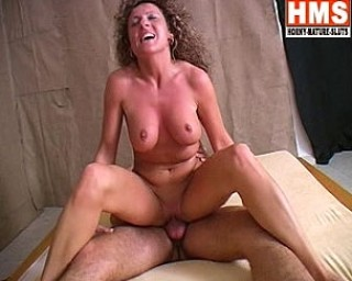 Curly mature slut sucking and fucking hard