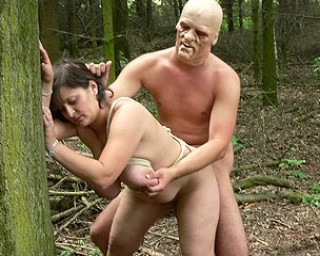 Fucked by a masked man in the woods